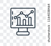 stats vector icon isolated on... | Shutterstock .eps vector #1164038464