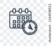 agenda vector icon isolated on... | Shutterstock .eps vector #1164038521