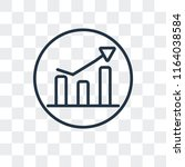stats vector icon isolated on... | Shutterstock .eps vector #1164038584