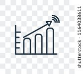stats vector icon isolated on... | Shutterstock .eps vector #1164038611