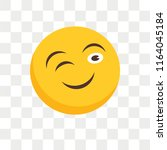 wink vector icon isolated on...   Shutterstock .eps vector #1164045184