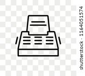 typewriter with paper vector... | Shutterstock .eps vector #1164051574