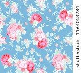 seamless cute vintage pattern... | Shutterstock .eps vector #1164053284