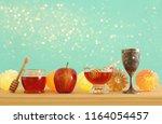 rosh hashanah  jewish new year... | Shutterstock . vector #1164054457