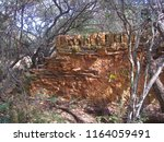 Old Stone And Clay Wall In...
