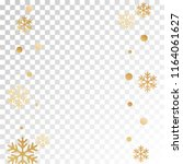 winter snowflakes and circles... | Shutterstock .eps vector #1164061627