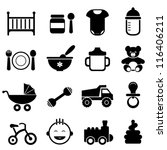 baby and newborn icon set in... | Shutterstock .eps vector #116406211
