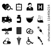 health and medical icon set | Shutterstock .eps vector #116406214