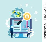 goals and searching for finance ... | Shutterstock .eps vector #1164065317