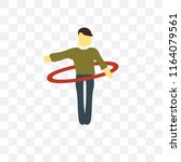 hula hop vector icon isolated...