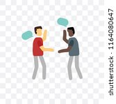 discussion vector icon isolated ... | Shutterstock .eps vector #1164080647