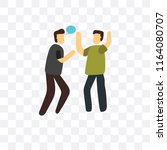 quarrel vector icon isolated on ... | Shutterstock .eps vector #1164080707
