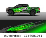 car decal wrap  truck and cargo ... | Shutterstock .eps vector #1164081061