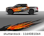 car decal wrap  truck and cargo ... | Shutterstock .eps vector #1164081064