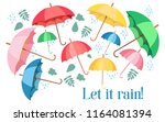 set of colorful umbrellas