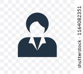 businesswoman vector icon... | Shutterstock .eps vector #1164082351