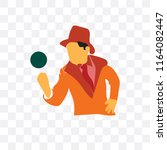 detective vector icon isolated... | Shutterstock .eps vector #1164082447