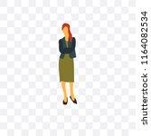 businesswoman vector icon... | Shutterstock .eps vector #1164082534