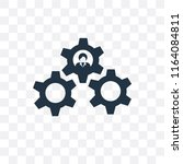 settings vector icon isolated... | Shutterstock .eps vector #1164084811