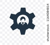settings vector icon isolated... | Shutterstock .eps vector #1164084814