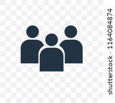 group vector icon isolated on... | Shutterstock .eps vector #1164084874