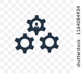 settings vector icon isolated... | Shutterstock .eps vector #1164084934