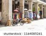 street view of an square in... | Shutterstock . vector #1164085261