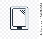 tablet vector icon isolated on... | Shutterstock .eps vector #1164087544