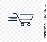cart vector icon isolated on... | Shutterstock .eps vector #1164087667