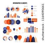 ads rating visualisation... | Shutterstock .eps vector #1164090661