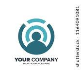 finance bussines icon logo... | Shutterstock .eps vector #1164091081