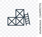 scaffolding vector icon... | Shutterstock .eps vector #1164092731