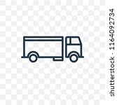 lorry vector icon isolated on... | Shutterstock .eps vector #1164092734