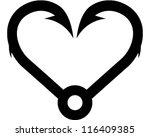 heart hook | Shutterstock .eps vector #116409385