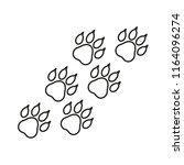 paw print vector icon  | Shutterstock .eps vector #1164096274