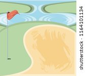 golf curse with sand trap | Shutterstock .eps vector #1164101134