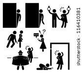 pervert stalker physco molester ... | Shutterstock .eps vector #116410381