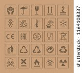 vector packaging symbols set on ... | Shutterstock .eps vector #1164108337