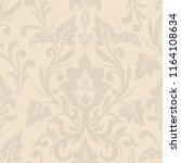 vector damask seamless pattern...   Shutterstock .eps vector #1164108634