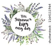 watercolor decorative card with ...   Shutterstock . vector #1164111964