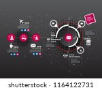 business infographic layout | Shutterstock .eps vector #1164122731