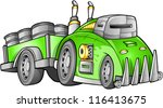 apocalyptic car vehicle vector | Shutterstock .eps vector #116413675