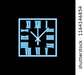 square wall clock with roman...