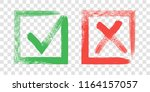 tick and cross sign elements.... | Shutterstock .eps vector #1164157057