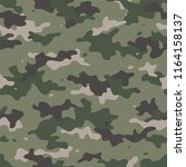 camouflage seamless pattern.... | Shutterstock .eps vector #1164158137