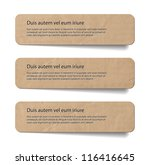 three abstract vintage old... | Shutterstock .eps vector #116416645