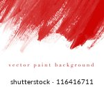 red vector abstract hand...