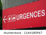 closeup of french hospital... | Shutterstock . vector #1164180967