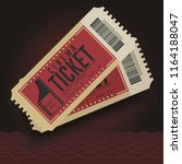 cinema tickets. movie cinema... | Shutterstock .eps vector #1164188047