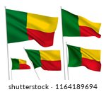 benin vector flags set. 5... | Shutterstock .eps vector #1164189694